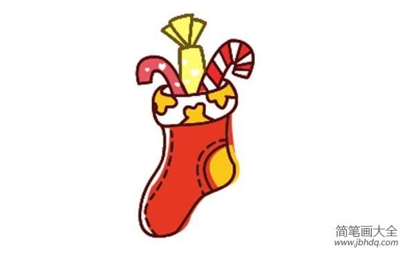 圣诞袜简笔画画法
