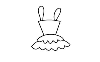 游乐场简笔画图片大全|儿童简笔画裙子的画法