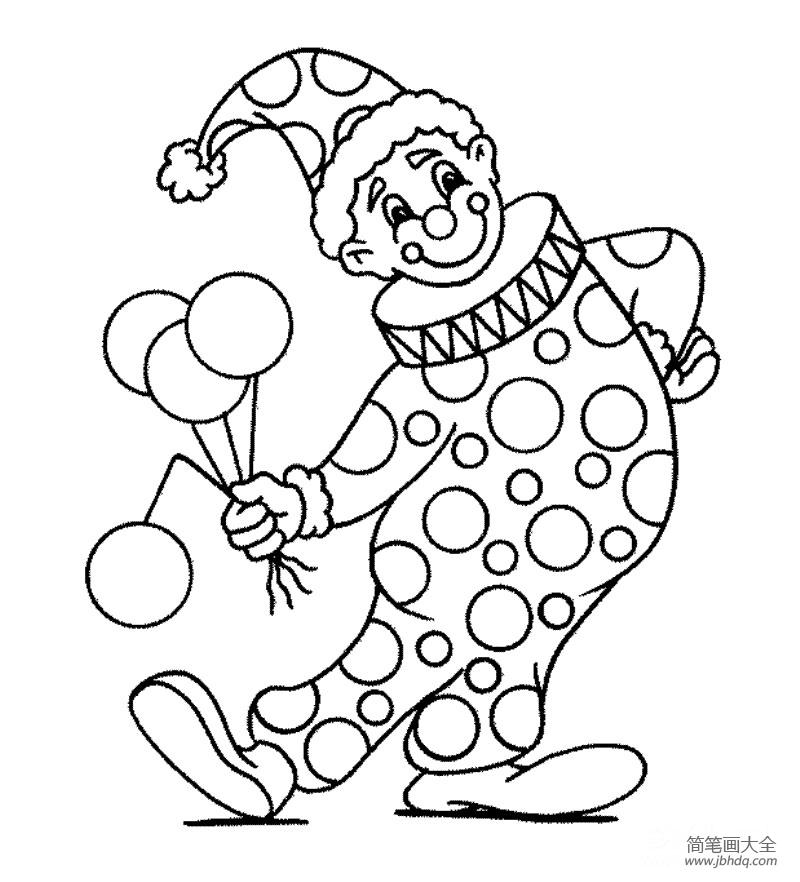 人物简笔画_儿童人物简笔画小丑