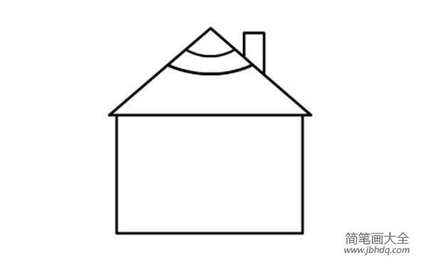 【小房子简笔画彩色】幼儿简笔画教程之小房子的画法