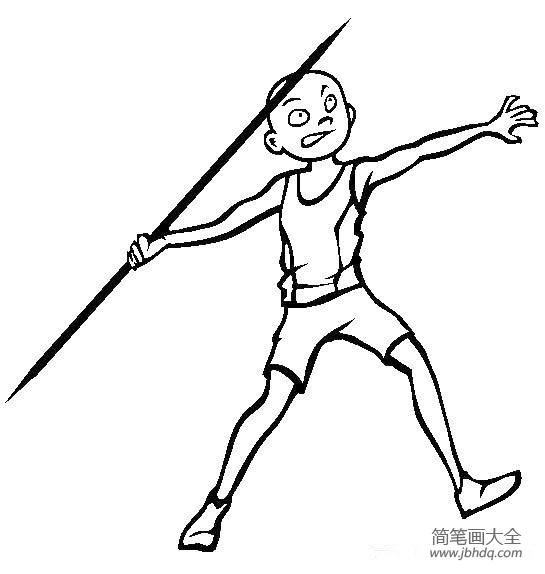 体育运动简笔画图片大全 体育运动简笔画之标枪