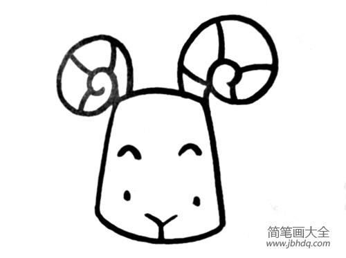 动物简笔画大全带颜色 儿童动物简笔画绵羊的画法 其他动物简笔画 百人