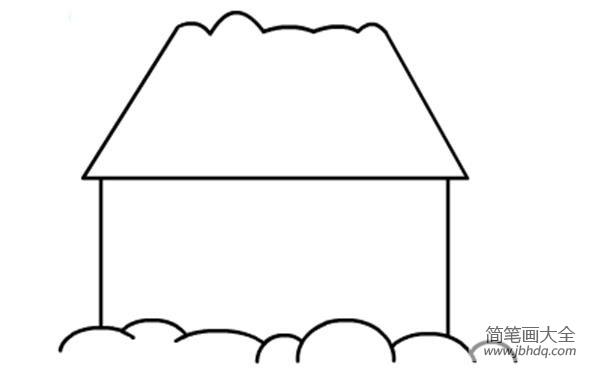 简笔画房子图片大全|儿童建筑简笔画房子