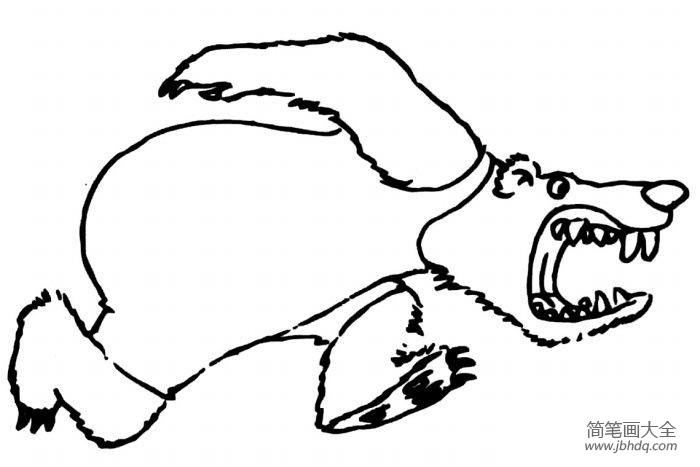 一组卡通熊的简笔画图片