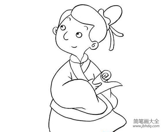 古代美女简大全笔画学子大图]古代笔画简图片大全连连看美女小游戏图片