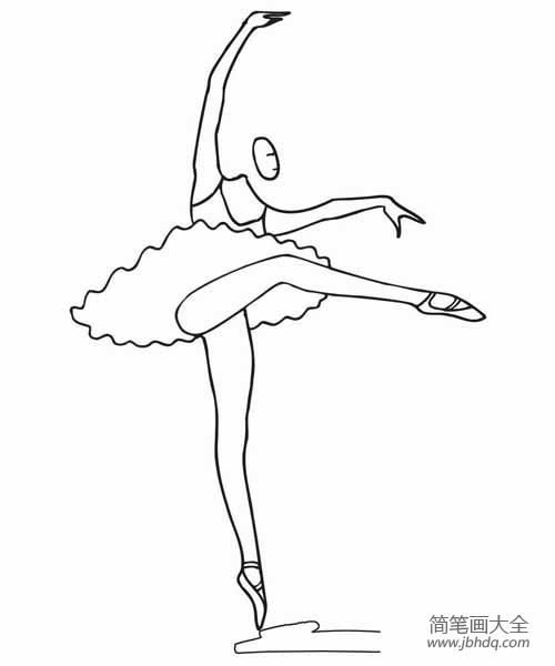 一组词 一组跳芭蕾的小女孩简笔画 小女孩简笔画 百人简笔画 儿童简