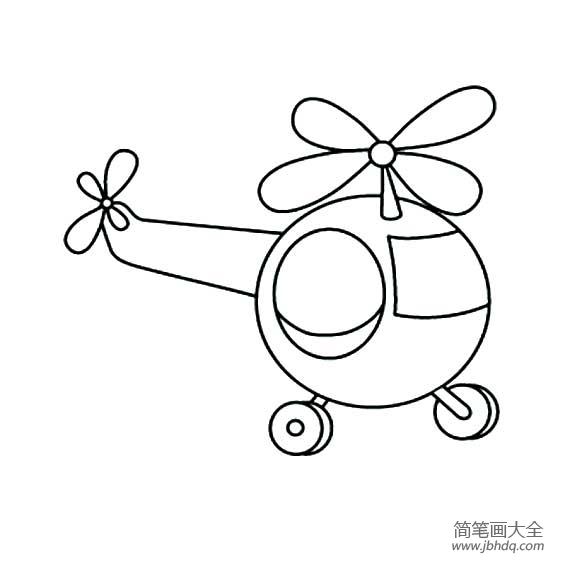 幼儿交通工具简笔画 直升飞机
