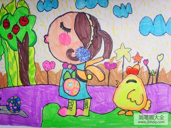 [儿童画画学习]儿童画感受大自然