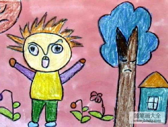 儿童画新年快乐