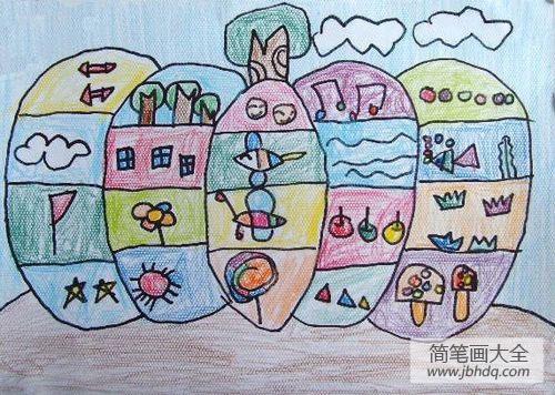 儿童画特别的南瓜