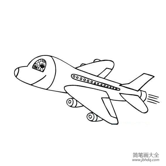 【游乐场简笔画图片大全】儿童简笔画,空中飞行的飞机
