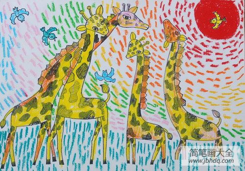 长颈鹿一家人