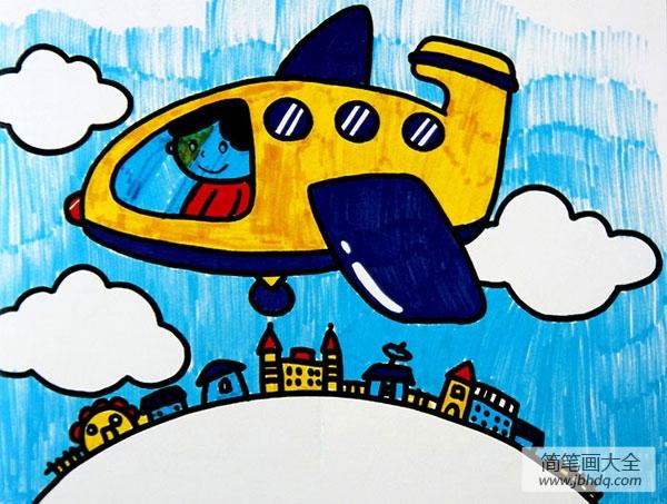 小飞机上天空