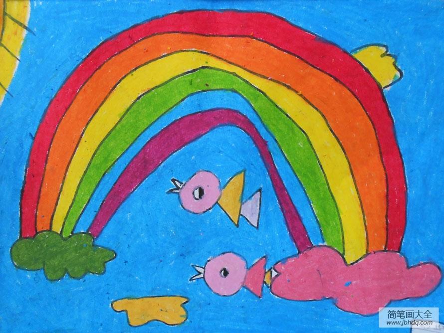 彩虹与小鸟