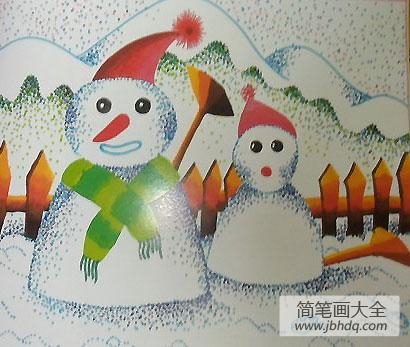 两个雪娃娃