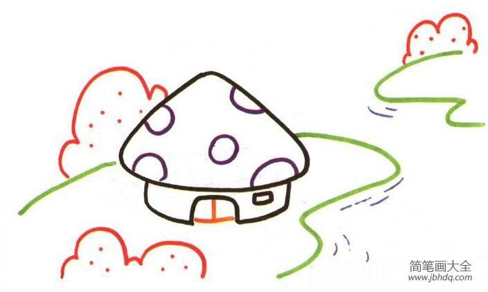 小朋友几岁学画画合适 儿童学画画,河边的房子 儿童水粉画 百人简笔画