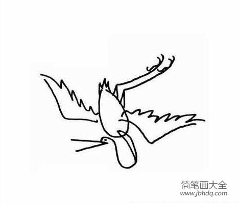 仙鹤的简笔画图片大全_幼儿简笔画图片仙鹤