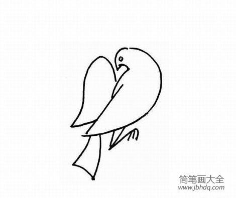简笔卡通画动物 幼儿动物简笔画,鸽子