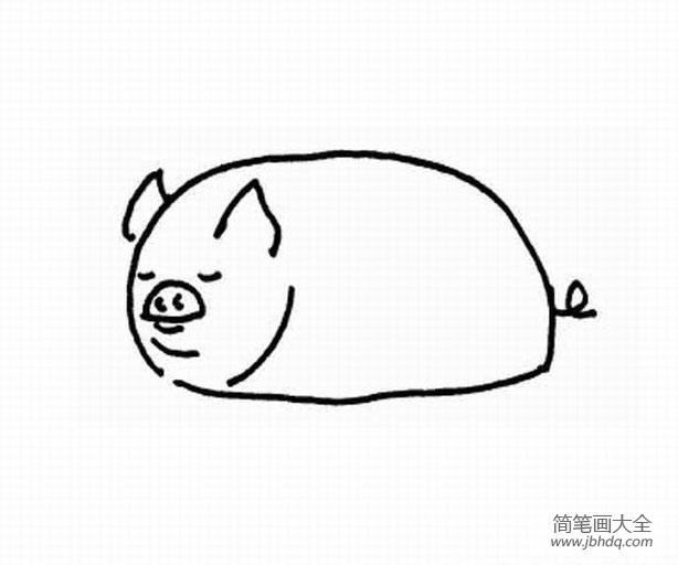 [简笔画动物小猪佩奇]幼儿简笔画动物,小猪