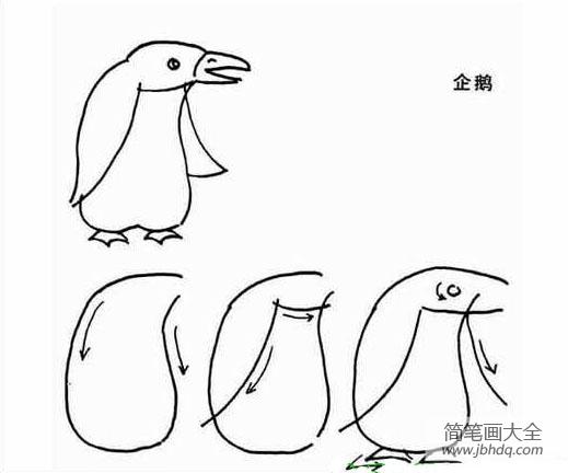 儿童简笔画教程 企鹅