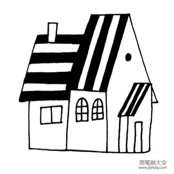 幼儿建筑简笔画 可爱的小房子