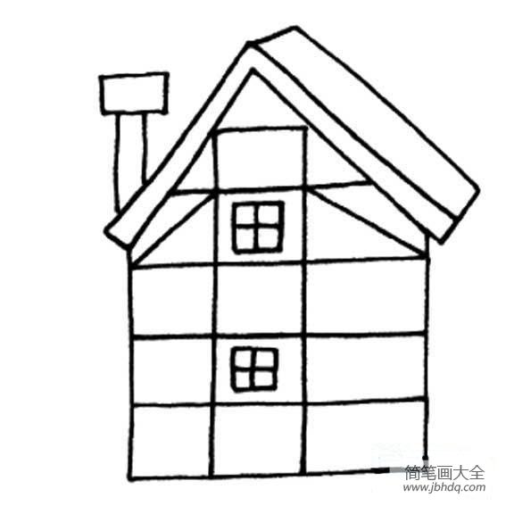 幼儿园数学练习题_幼儿建筑简笔画,可爱的小房子