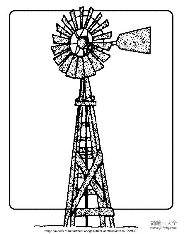 幼儿建筑简笔画 大风车
