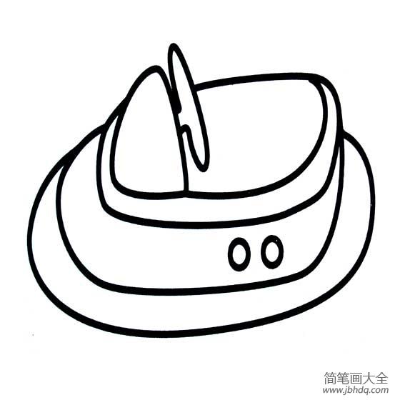儿童简笔画气垫船