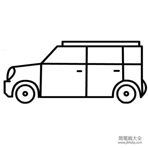 关于幼儿园画小汽车简笔画