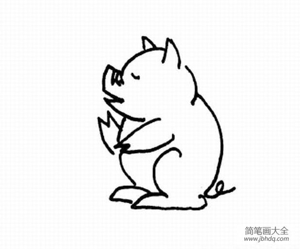 卡通猪的简笔画图片