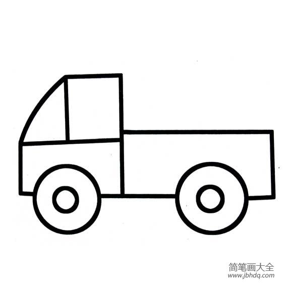 小卡车简笔画图片大全 超简单的小卡车简笔画 儿童水墨画 百人简笔画