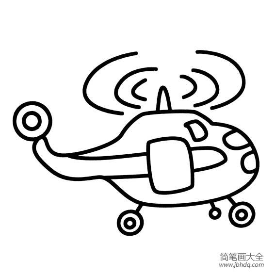 直升飞机的简笔画图片
