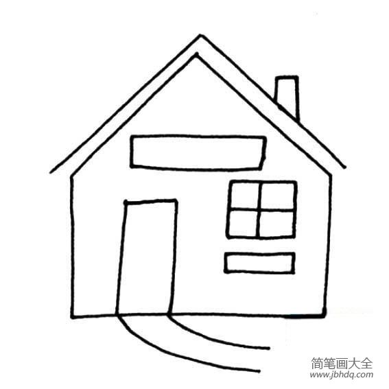 简笔小房子的画法|关于小房子的简易画法