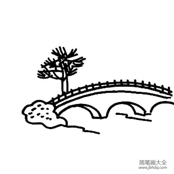 小桥的简笔画图片
