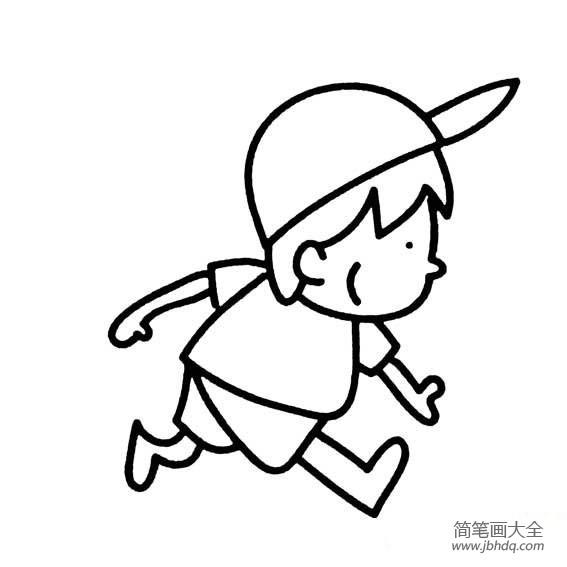 [锻炼身体的方法]锻炼身体的小男孩简笔画图片