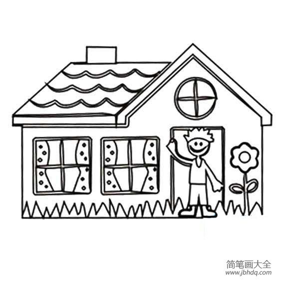 幼儿园数学练习题_幼儿可爱房子简笔画