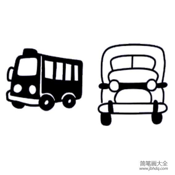 可爱小汽车简笔画图片大全_可爱小汽车简笔画