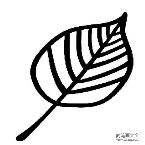 【树叶画的简单做法】简单易画的树叶