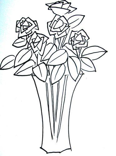 [月季花图片简笔画]月季花的简笔画画法