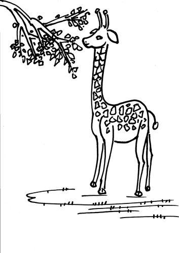 长颈鹿画法简笔画图片 长颈鹿的简笔画画法 长颈鹿简笔画 百人简笔画