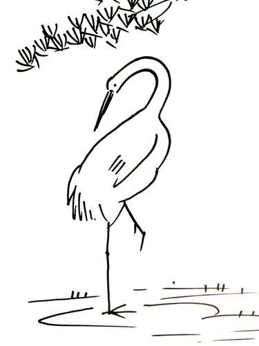 简笔画月饼画法 关于鹤的简笔画画法 丹顶鹤简笔画 百人简笔画 儿童简
