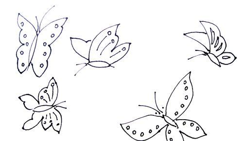 蝴蝶的画法简笔画图片 蝴蝶的简笔画画法介绍 花朵简笔画 百人简笔画
