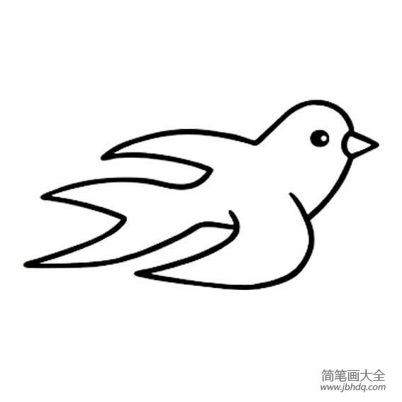 简单的燕子简笔画图片大全 简单的燕子简笔画 儿童漫画 百人简笔画 儿童