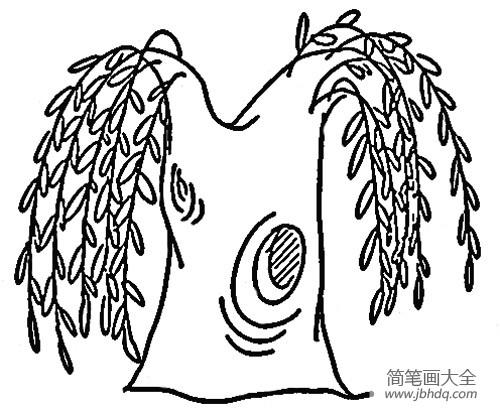 【春天的柳树简笔画】春天的柳树简笔画图片
