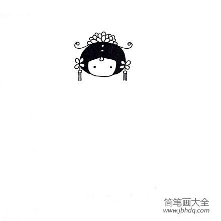 [q版人物简笔画]中国宫廷人物简笔画