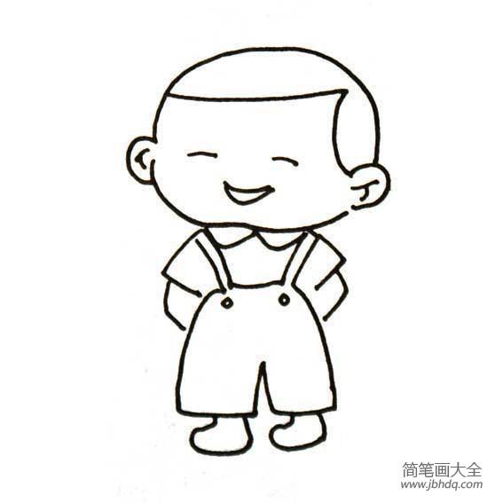 可爱的小宝宝 可爱的小男孩简笔画 小男孩简笔画 百人简笔画 儿童简