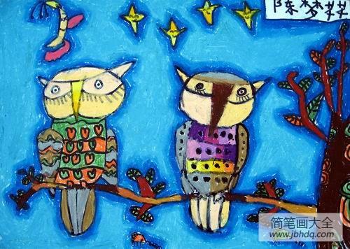 [猫头鹰吃什么]猫头鹰水彩画