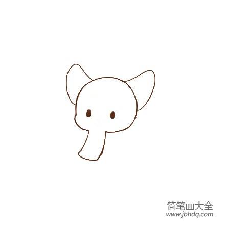 小象简笔画简单可爱_可爱的小象简笔画画法
