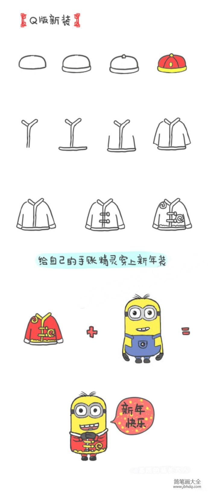 一组关于春节的简笔画素材