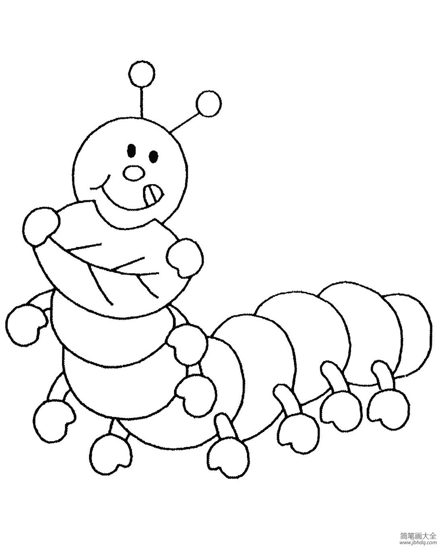 [京剧猫小青简笔画图片]小青虫简笔画图片